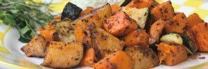 roasted vegetables in marinara