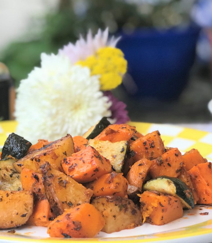 Italian roasted vegetables with olive oil