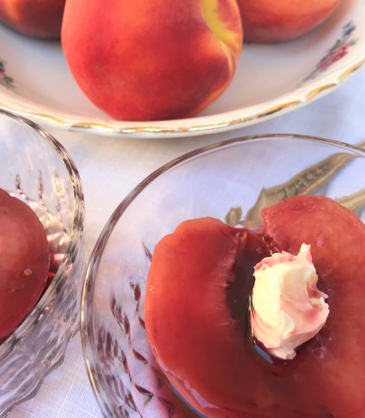lovely poached peaches