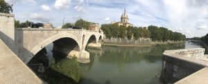 Along the Tiber river in Rome and Trastevere