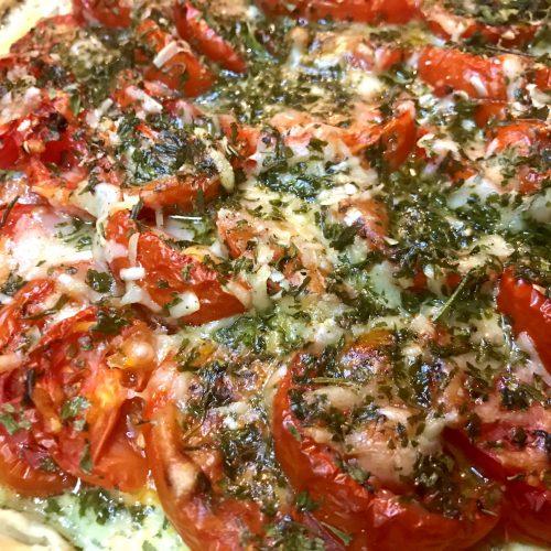 Cheesy Tomato Tart