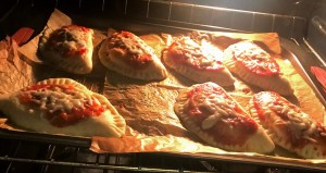 baked pizza calzone