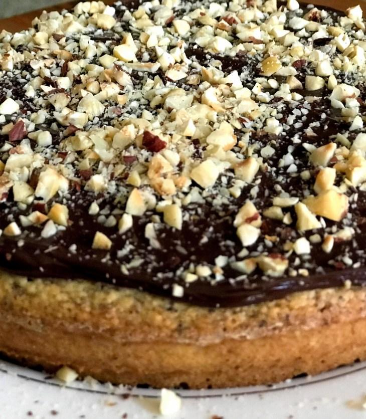 hazelnut cake and ganache